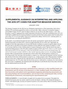 Supplemental Guidance Article: How to Successfully Work with the 2019 CPT® Codes