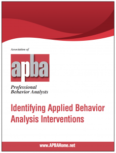 APBA White Paper on Identifying ABA Interventions