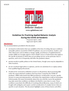 Apba Pandemic Guidelines Cover